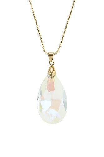 Crystal teardrop pendant necklace eiger by jbc swiss medium crystal pendant mozeypictures Choice Image