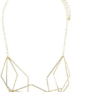 Geometric Outline Cluster Bib Necklace