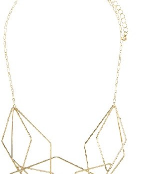Cluster Bib Geometric Necklace